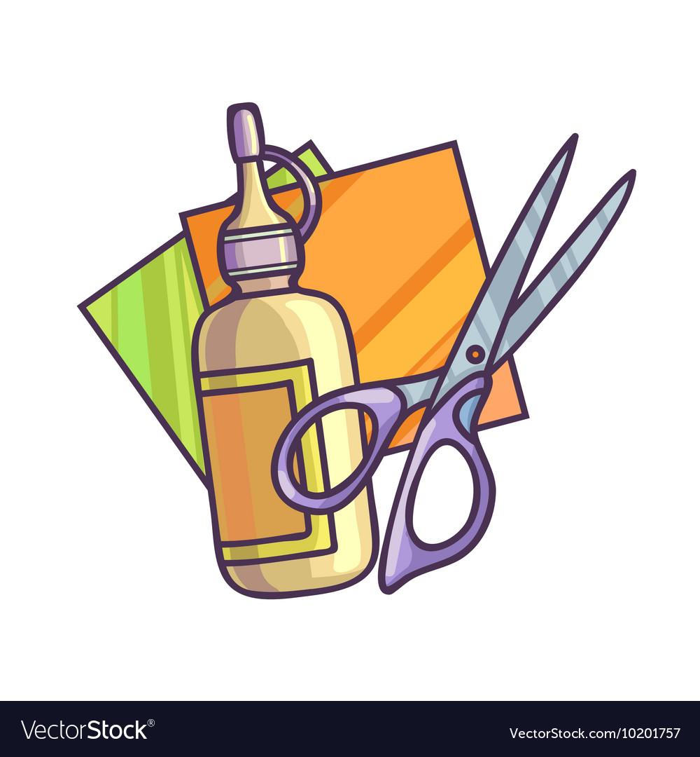 Glue paper and scissors.