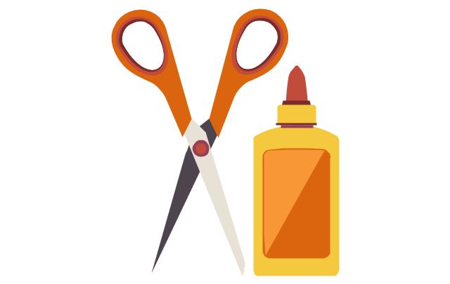 Glue And Scissors Clipart.