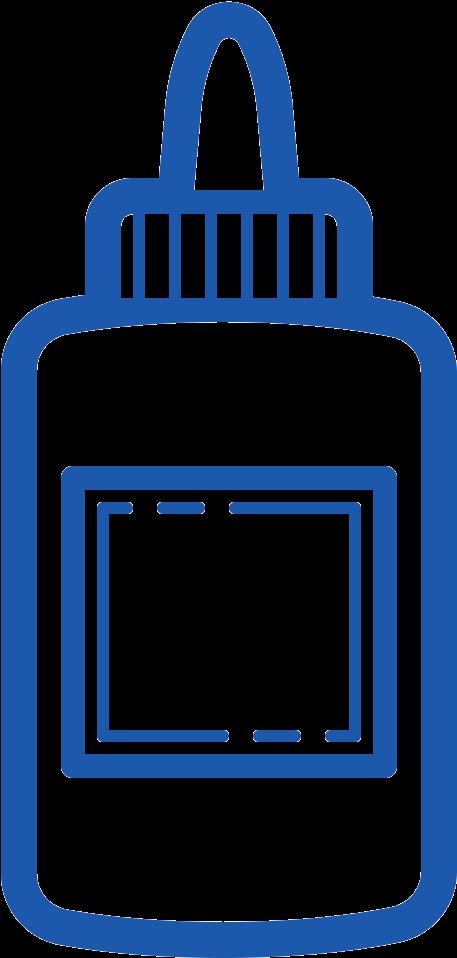 Glue Clipart Blue Glue.