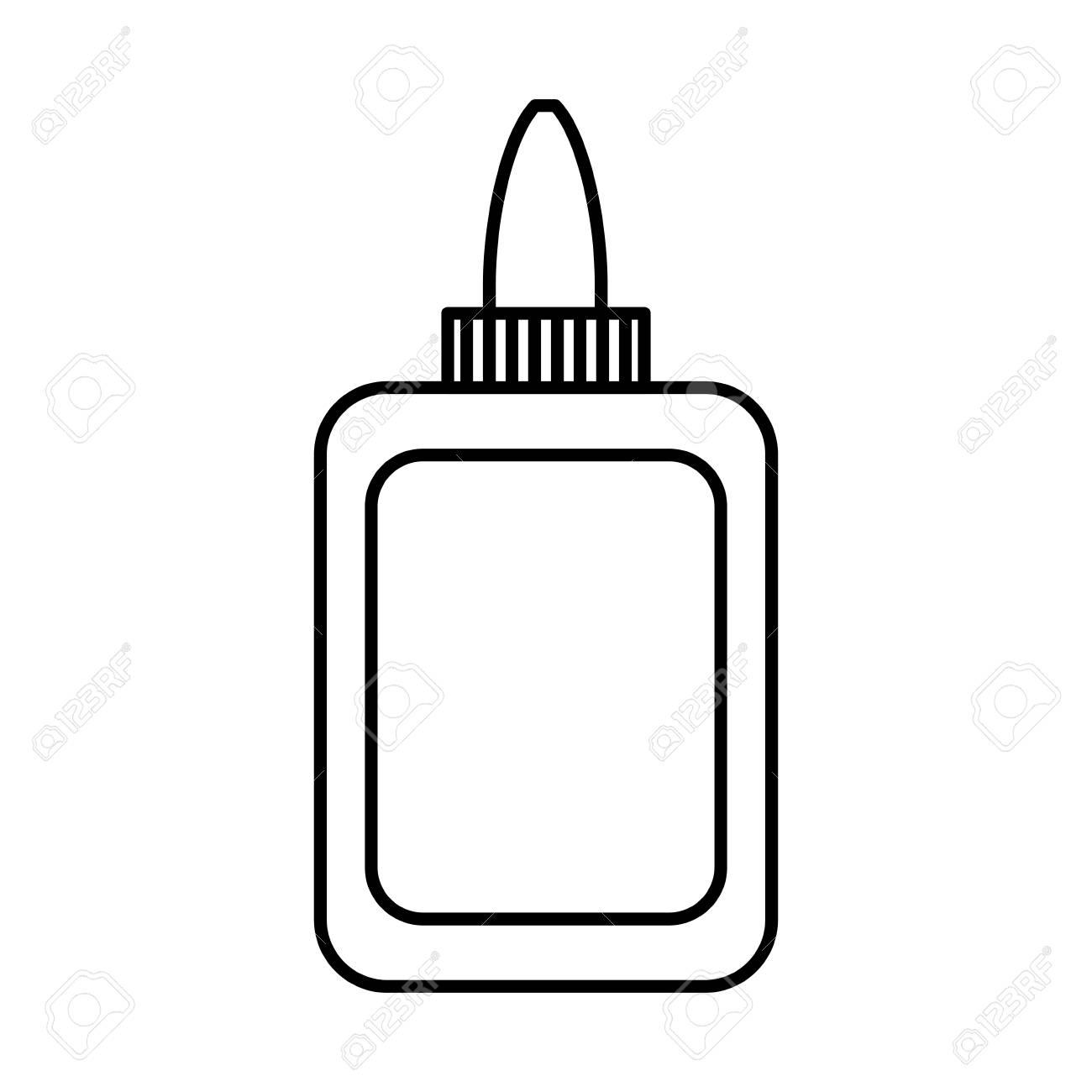Glue bottle icon over white background vector illustration..
