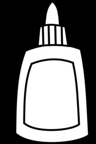 Glue Bottle Clipart Black And White.