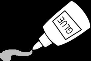 Glue Outline clip art.
