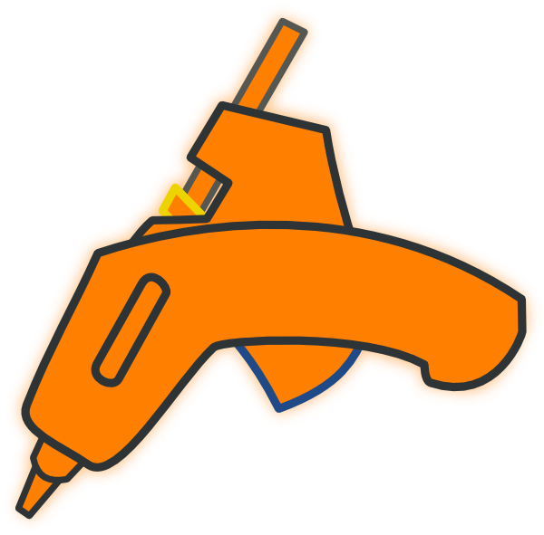 Wood Glue Gun Clip Art.