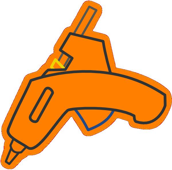 Wood Glue Gun Clip Art.