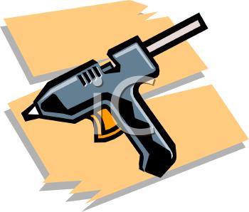 Glue Gun Glue Stick Clip Art.