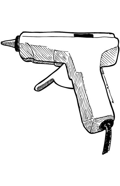 Glue Gun Glue Stick Clip Art.
