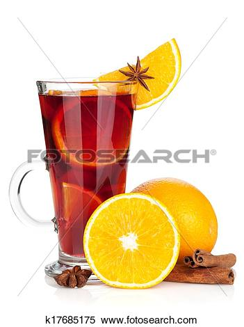 Stock Photo of glass of christmas mulled wine k17280273.
