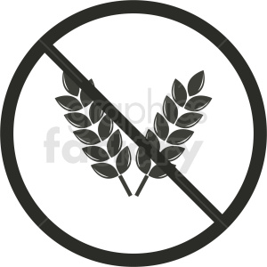gluten free symbol no background clipart. Royalty.