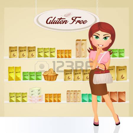 Gluten Woman Clipart.