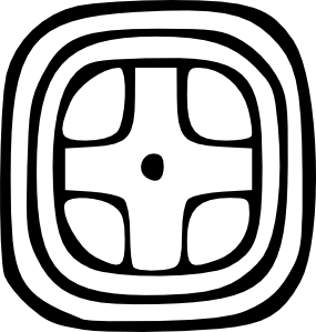 Maya Glyph Yellow Clip Art at Clker.com.