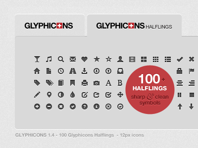 GLYPHICONS Halflings by Jan Kovařík on Dribbble.