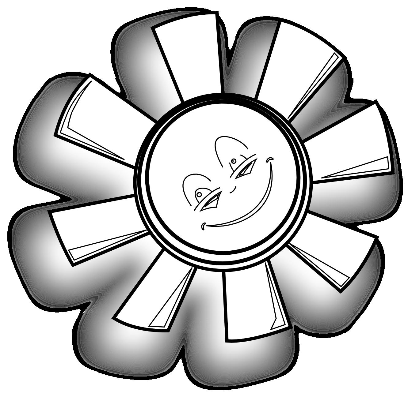 happy sun gm black white line art scalable vector graphics svg.