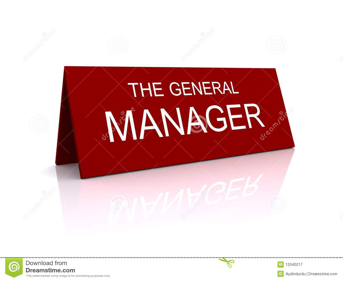 General Manager Clipart.
