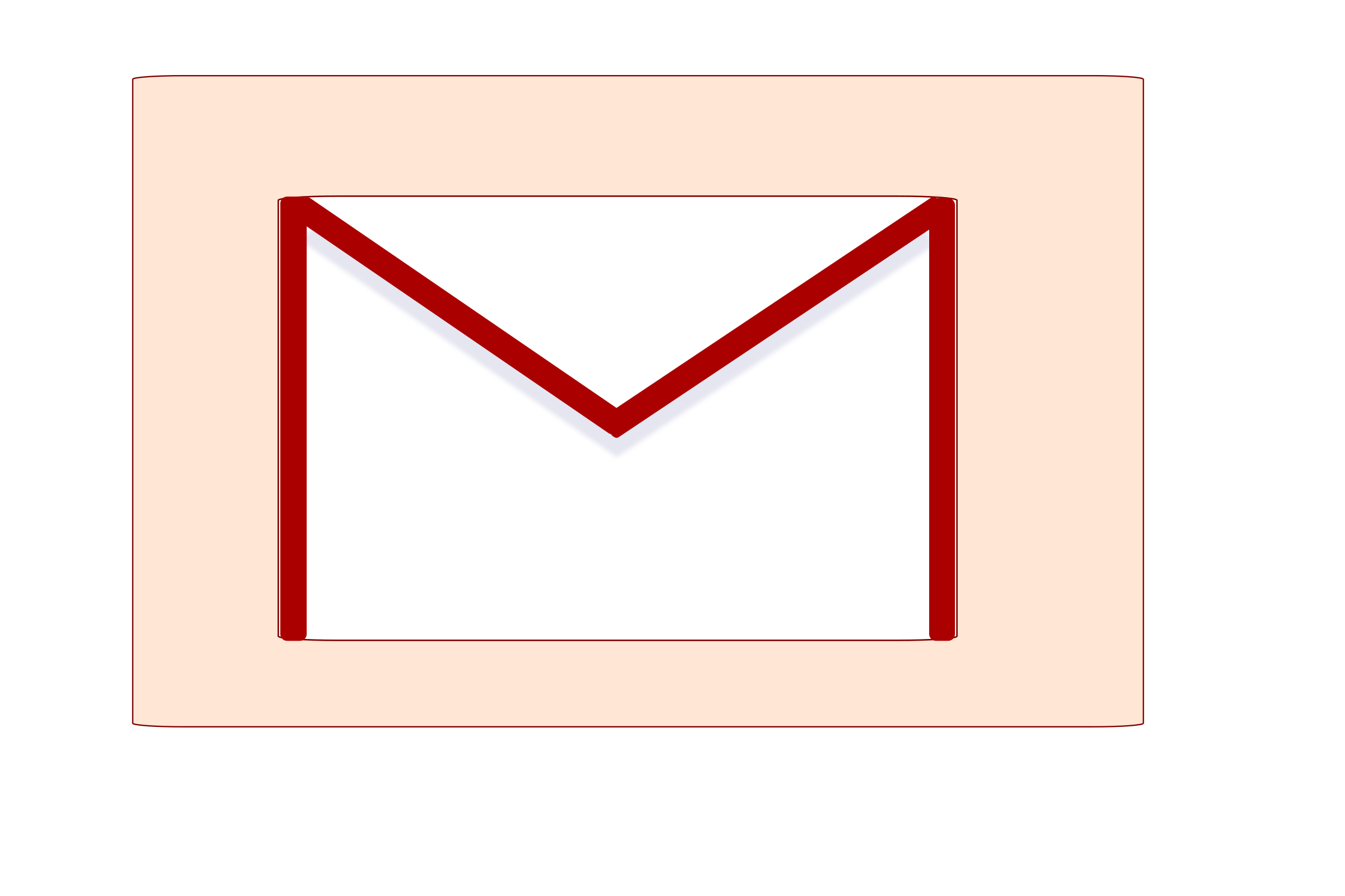 Gmail Icon Vector Clipart.