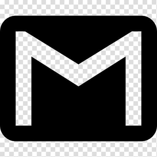 Black Gmail logo, Gmail Computer Icons Logo Email, gmail.