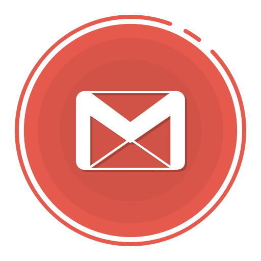 Gmail circle icon, gmail icon, gradient icon, social media icon icon.