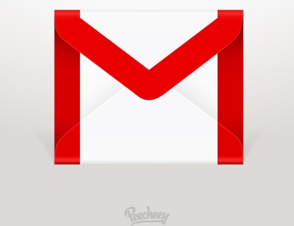 Gmail icon Free vector in Adobe Illustrator ai ( .ai.
