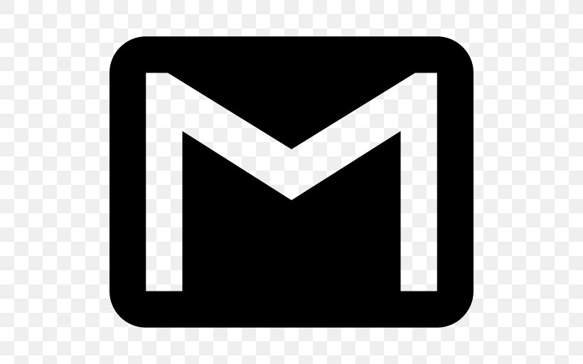 Gmail Logo Email, PNG, 512x512px, Gmail, Black, Black And.