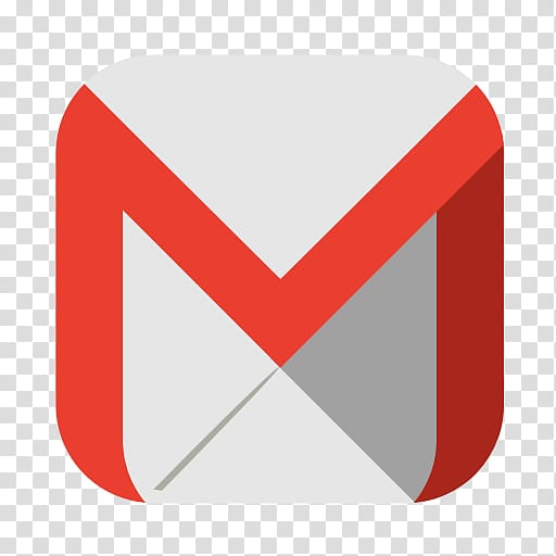 Gmail icon, triangle text brand, Communication gmail.