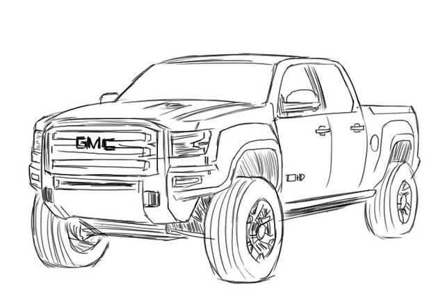 GMC Sierra Drawing.