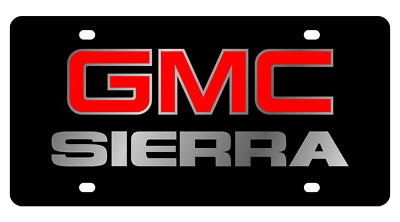 GMC SIERRA LOGO Black Mirror Outline Finish Lazer Tag.