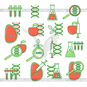 GMO set of icons.