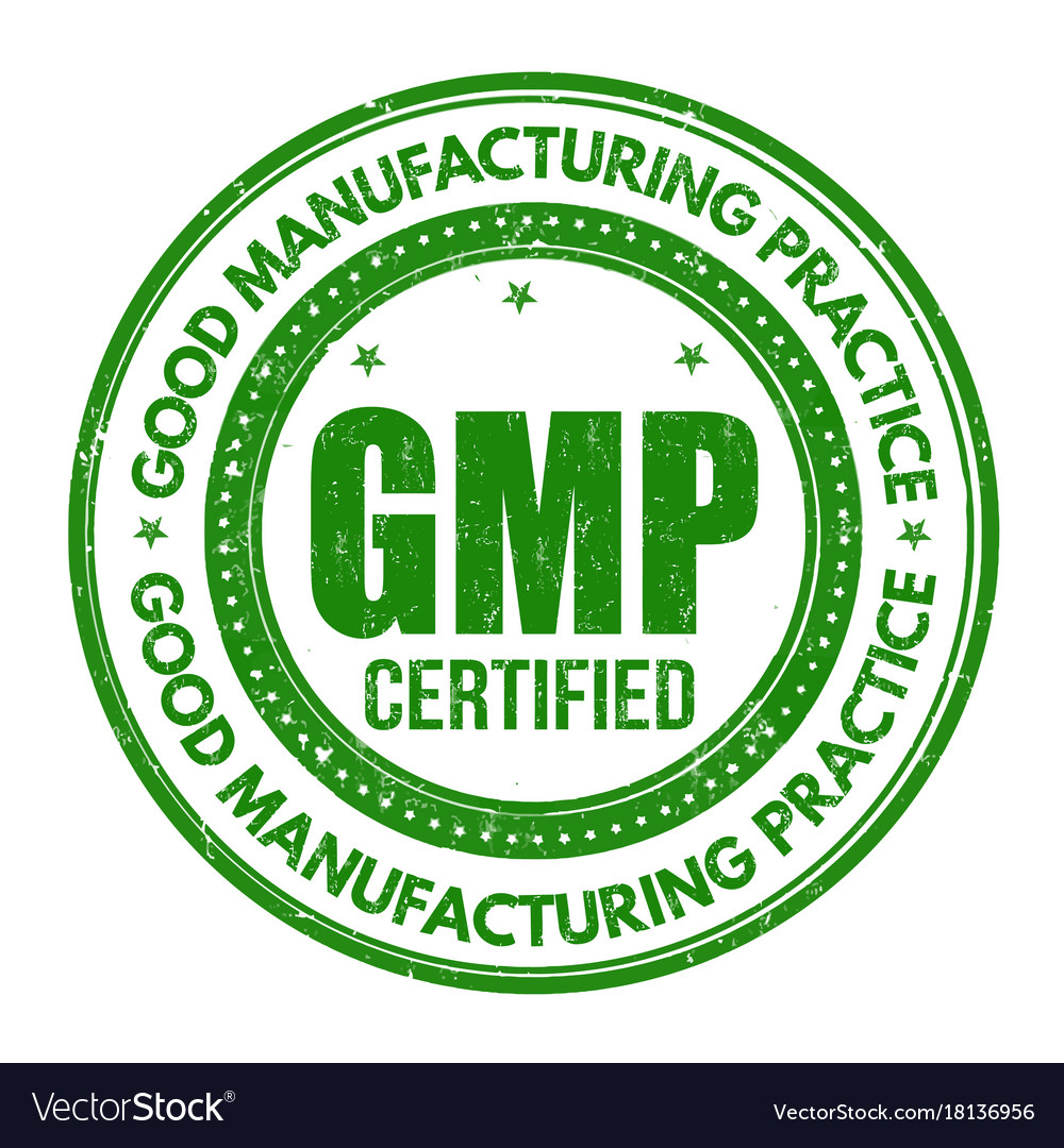 Good manufacturing practice gmp sign or stamp.