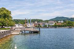 Promenade In Gmunden Editorial Stock Photo.