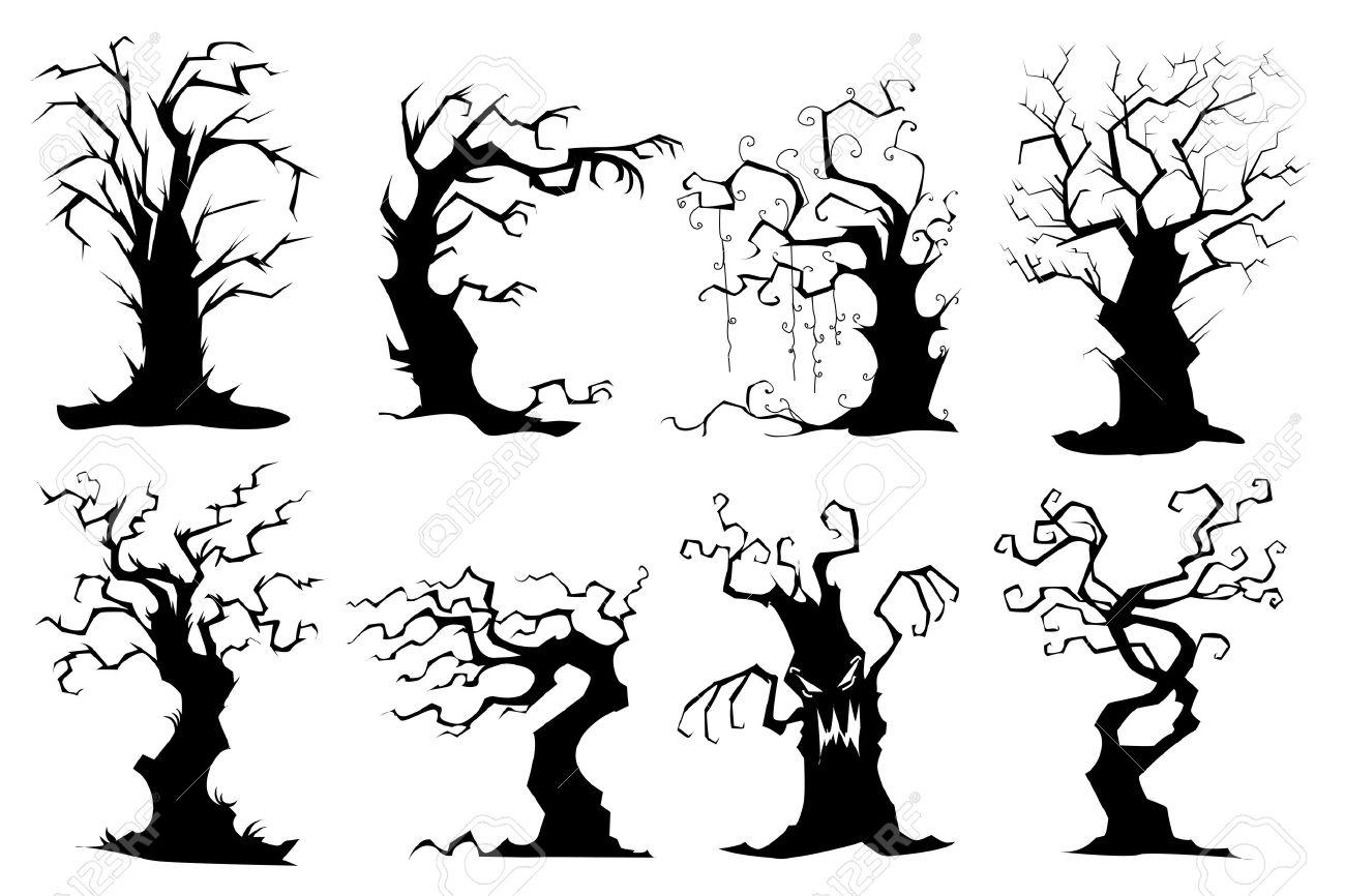 Vector Illustration Tree: Gnarly Trees Clipart