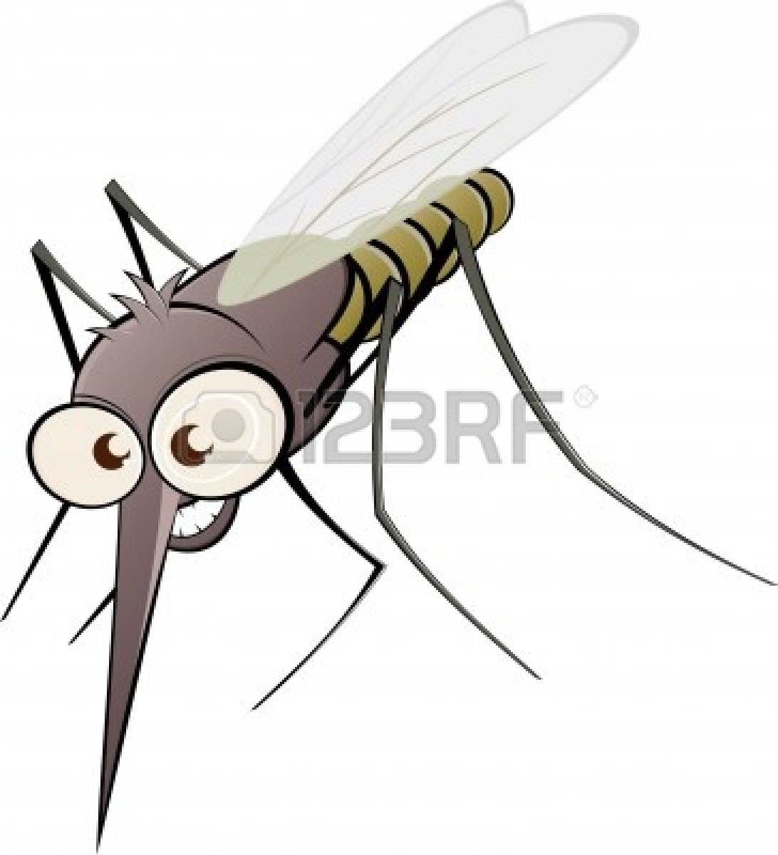 Gnat Clipart 10385772 Nasty Cartoon Mosquito Jpg #OfrYfl.