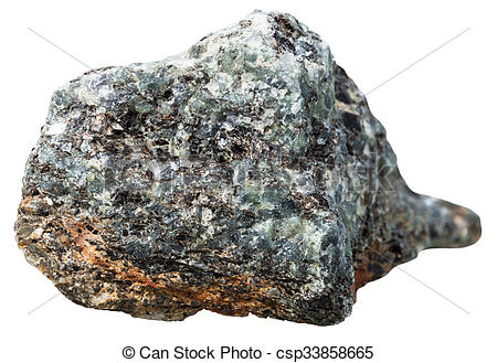 Stock Image of gray natural rock stone from migmatic gneiss.