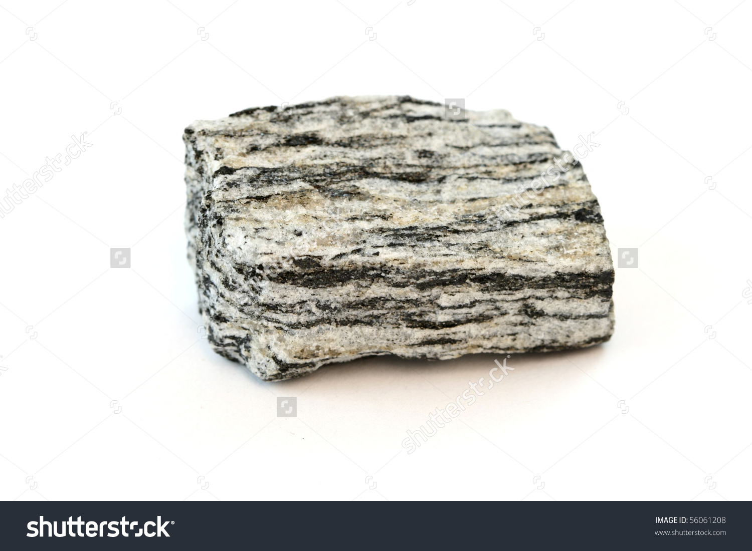 Isolated Sample Rock Gneiss Stock Photo 56061208.