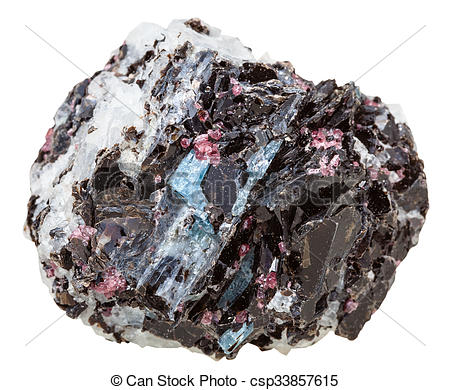 Stock Photography of gneiss rock with various crystals mineral.