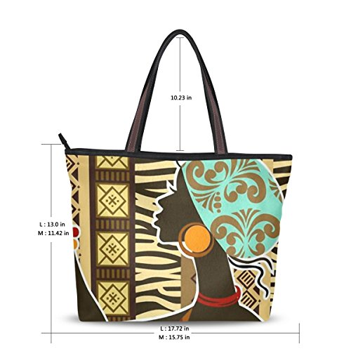 durable modeling Ingbags Fashion Large Tote Shoulder Bag African.