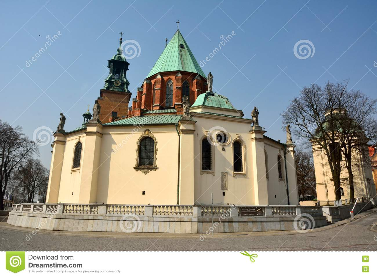 Royal Gniezno Cathedral Dating From 1331. Stock Photo.