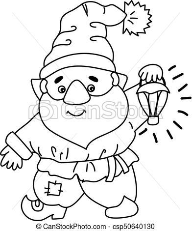 Vector Cartoon Gnome.