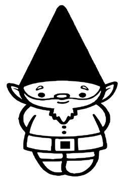 gnome clip art black and white #6