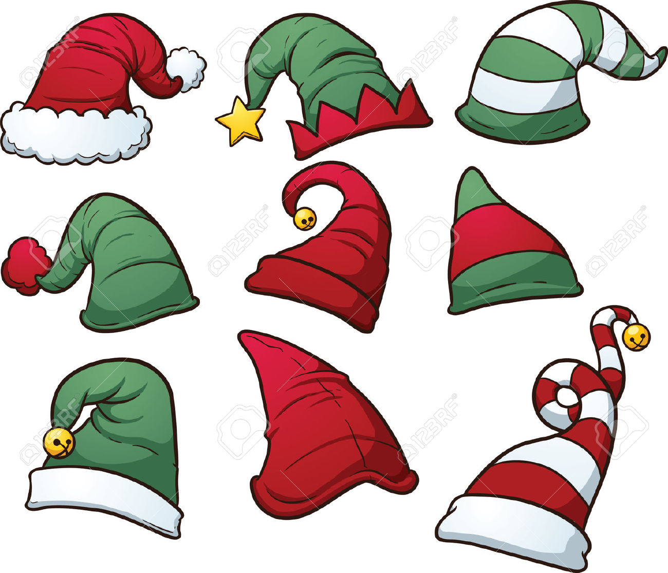 Christmas Elf Hat Clipart.