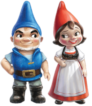 Gnomeo and Juliet Couple transparent PNG.