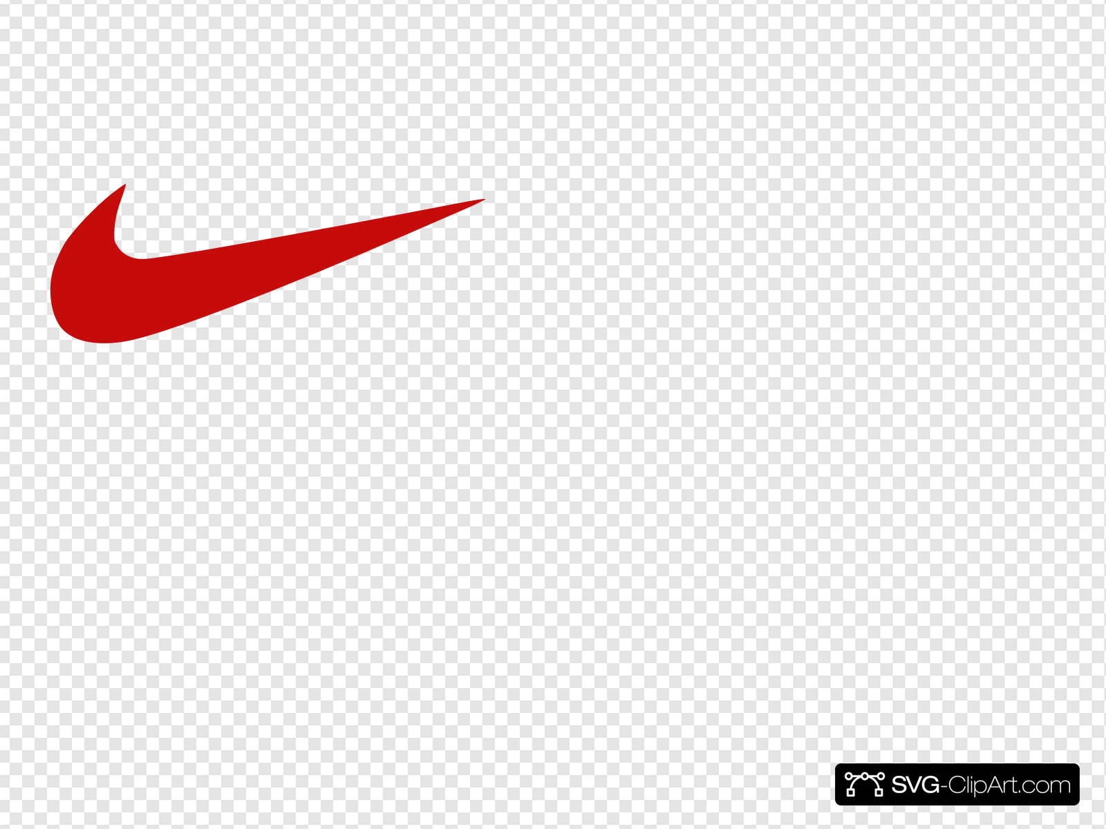 Red Nike Logo Clip art, Icon and SVG.