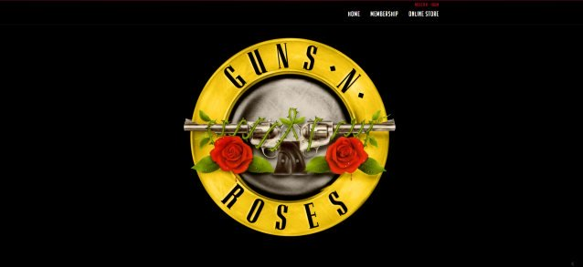 Guns N\' Roses\' Official Web Site Updated With Old Logo.