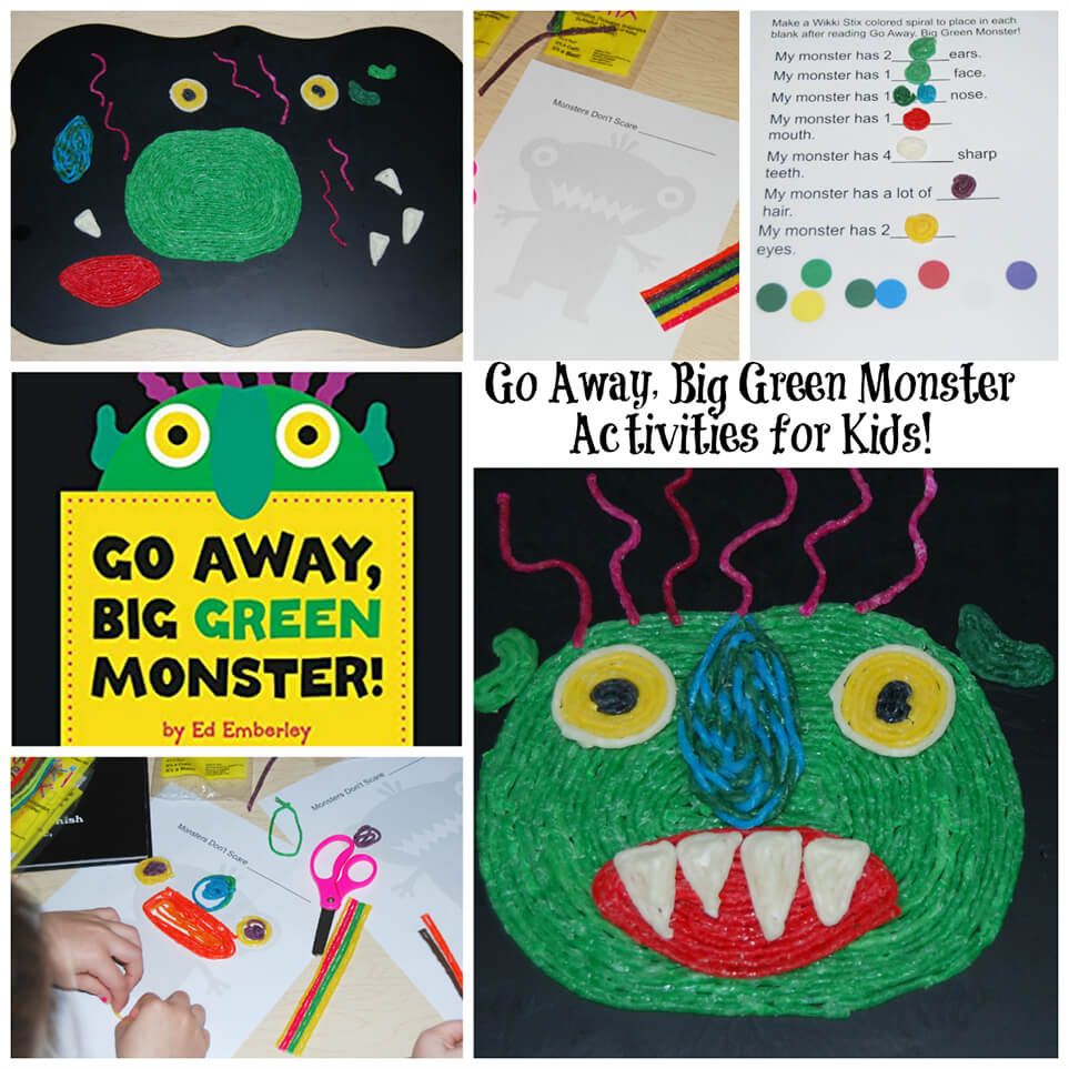 Go Away, Big Green Monster Activities for Kids!.