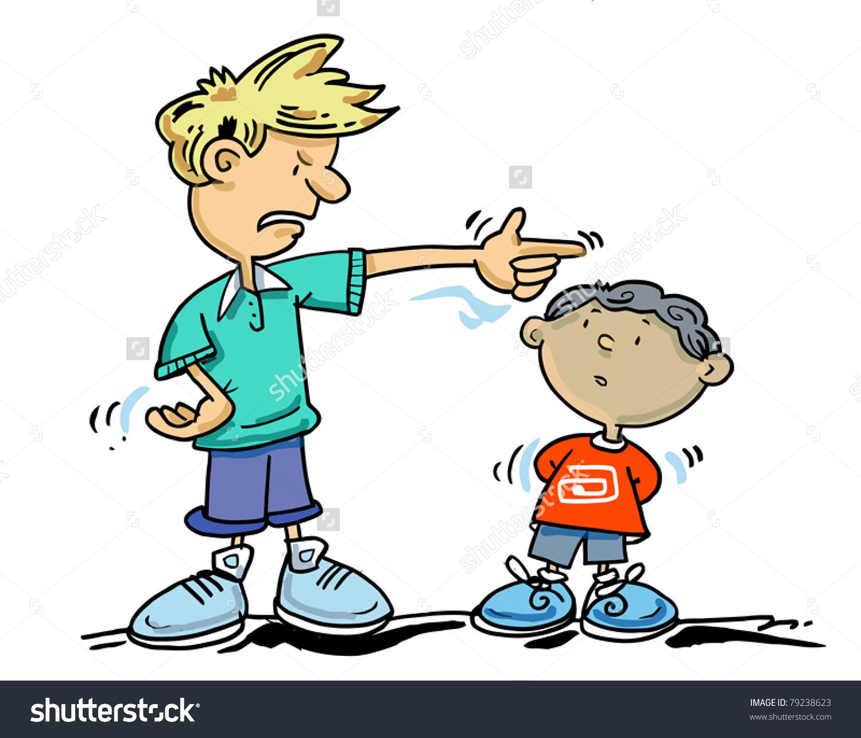 Go Away Small Boy Older Boy Stock Vector 79238623.