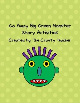 Go Away Big Green Monster Story Activities by The Crafty Teacher.