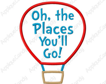 Oh the places you'll go balloon clipart.