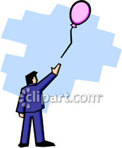 Letting Go Balloon Clip Art.
