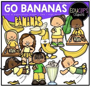 Go Bananas Clip Art Bundle {Educlips Clipart}.