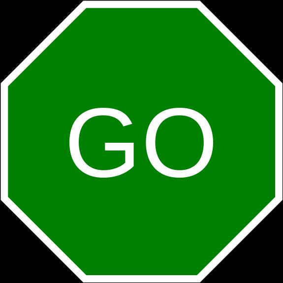 Go signs clip art.