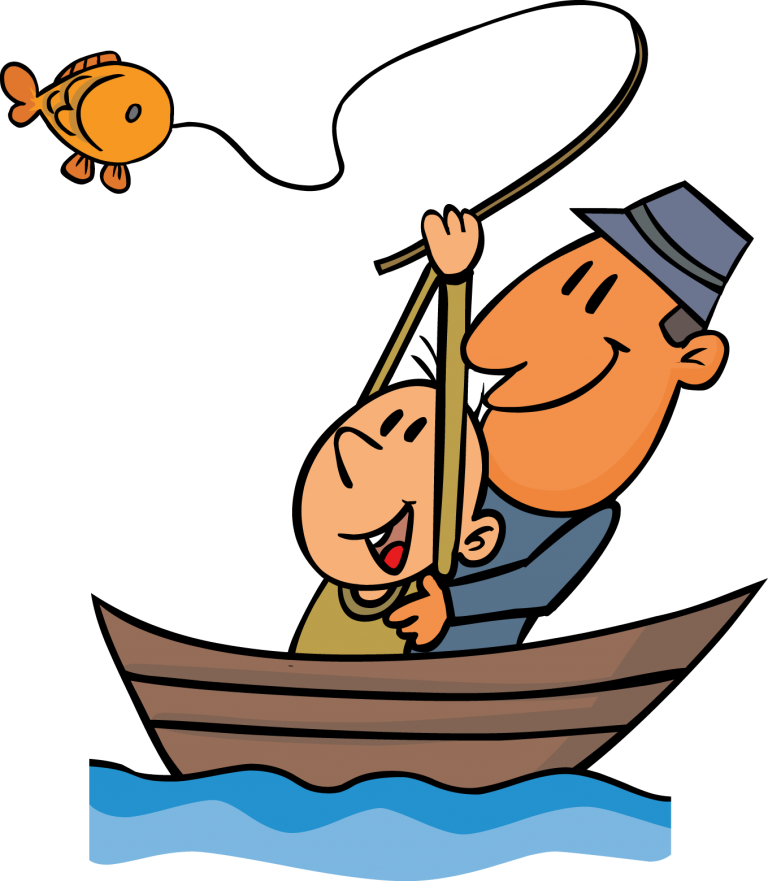 Fishing clipart go fish pencil and in color fishing.