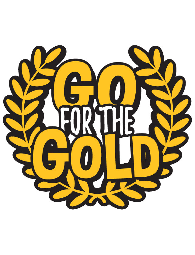 Go For The Gold Clipart.